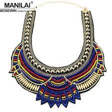 aliexpress necklace statement images Manilai fashion handmade ethnic choker necklace bib collares jpg