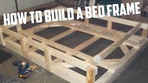 Bed Frame Build How To Build A Bed Frame Diy Project