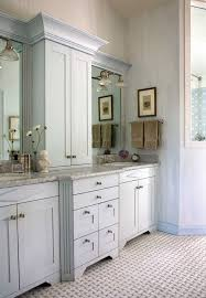 double sink vanity with middle tower 22 best master bathroom center cabinets images on pinterest