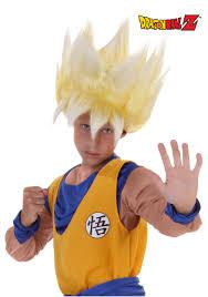 Dragon Halloween Costumes Kids Child Super Saiyan Goku Wig