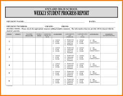 improvement report template 7 weekly progress report template homed