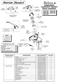 american standard kitchen faucet repair parts plumbingwarehouse american standard repair parts for model