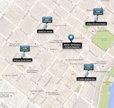 New Orleans Downtown Map by New Orleans Hotels French Quarter Garden District Airport