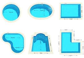 shapes of pools fiberglass swimming pool shapes and sizes keyhole above ground pools