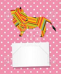 polka dots invitations invitation with polka dot background and origami lion royalty free