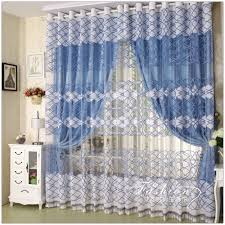 Blue And White Window Curtains Appealing White And Blue Colors Girls Bedroom Curtains For Large