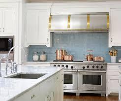 what color backsplash with white kitchen cabinets glass tile backsplash pictures better homes gardens