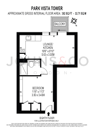 Tower Of London Floor Plan Studio For Sale In Park Vista Tower Cobblestone Square London
