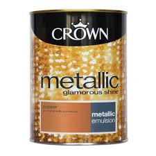 crown metallic emulsion paint copper 1 25l at wilko com
