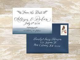 save the date envelopes modern watercolor invitation suite lettersbyanat
