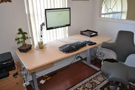 ergonomic desk setup two monitors best home furniture decoration