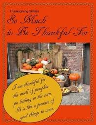 a free thanksgiving activity thanksgiving similes includes two