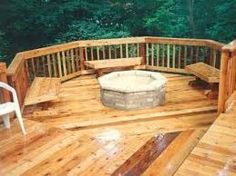 wood deck with fire pit outside deck with fire pit gallery