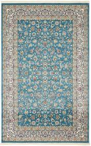 Viera Area Rug Xavier Machine Woven Turquoise Area Rug Floor Coverings