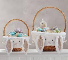 bunny easter basket taupe bunny easter basket liners pottery barn kids