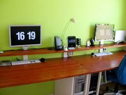 long computer desk for two black wooden long computer desk in a modern design bedroom