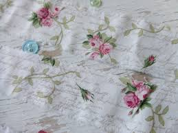 rose fabric rose trim shabby chic fabric by dkshopgirl on zibbet