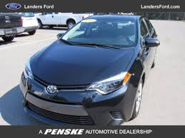 trunk space toyota corolla 2014 used toyota corolla 4dr sedan cvt le at landers chevrolet