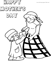 mother u0027s day color page coloring pages for kids holiday