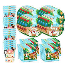 puppy party supplies puppy dog party pups birthday party supplies set