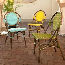 Yellow Bistro Chairs Bistro Chairs Bistro Chair In Yellow Set Of Two