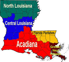 Florida Regions Map by Louisiana Regions Map U2022 Mapsof Net