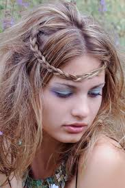 headband across forehead another way to wear a tiny side braid is pull it across the