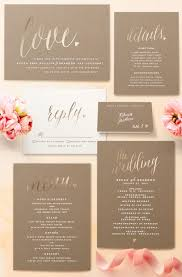 foil wedding invitations charming customizable foil pressed wedding invitations in