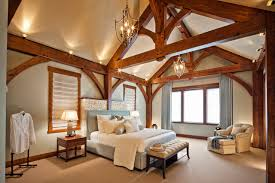 timber frame home interiors luxury timber frame traditional bedroom vancouver by