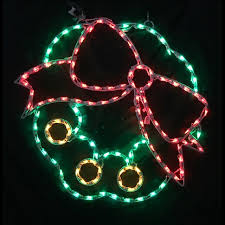 lighted christmas wreath lighted outdoor decorations lighted wall and window decorations