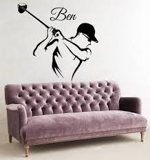 online get cheap golf player sticker aliexpress com alibaba group wall decals boy personalized name golf player vinyl decal sticker decor china mainland