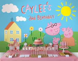 printable backdrop peppa pig party collection envyanvi