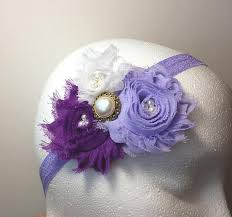 Shabby Chic Purple by Lavender Elastic Hair Band Shabby Tendertreasureboutique