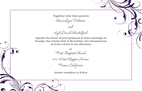 Wedding Invitation Cards Sample Wedding Invitations Template Theruntime Com