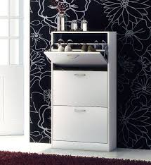 White Shoe Cabinet With Doors by Details About Wooden Shoe Storage Cabinet 3 Drawer Footwear Stand