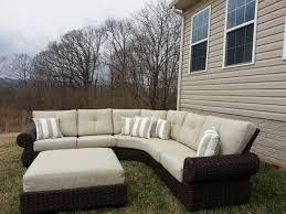 Hampton Bay 4 Piece Patio Set Hampton Bay Mill Valley 4 Piece Patio Sectional Set With Parchment