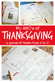 thanksgiving journal my abc s of thanksgiving journal