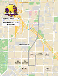 Map Of Midtown Atlanta by Annual Dragon Con Parade Dragoncon