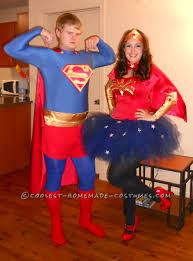 wonder woman halloween costume coolest homemade superman and wonder woman couples halloween