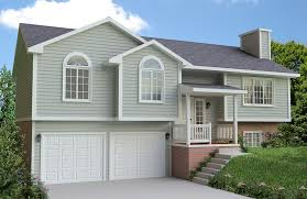 front to back split level house plans pillars home exterior front steps front porches and