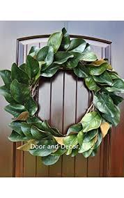 magnolia leaf wreath handmade magnolia leaf wreath for front door or