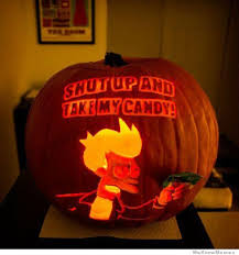 Pumpkin Carving Meme - shut up and take my candy pumpkin carving art know your meme