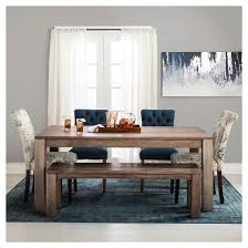 Braxton  Rustic Dining Bench Brown  Target - Target dining room tables