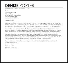 cpa client termination letter termination letters livecareer