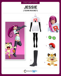 dress like jessie from team rocket costume halloween and cosplay