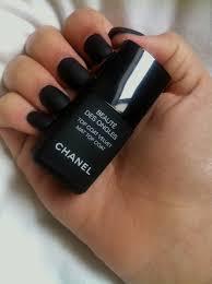 black matte nail polish on the hunt