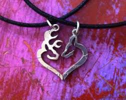 Buck And Doe Couples Necklace Stag And Doe Etsy