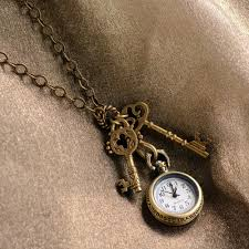antique key necklace images Steampunk pocket watch and antique key necklace by sweet romance jpg
