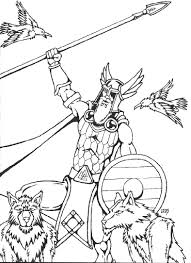 odin as the valfather by randverdansson jpg coloring page
