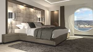 modern futuristic contemporary white acrylic adjustable bed frame natural stone tiles wall design trims modern white bedroom architecture with the gray tones futuristic metallic